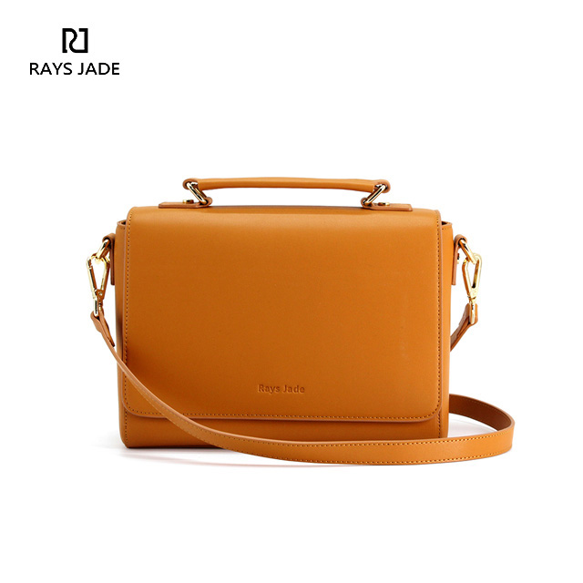 Rays Jade S New Leather Messenger Bag Design In Sample But Classic Shape Whole Amber Body And Gold Tone Hardware Cheer You Up It Is Easy To Match