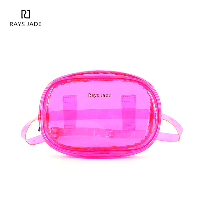 AW2019 Pink Lucency Jelly Fanny Pack - Rui Xin Leather bag factory ... d05ee572b9ba5